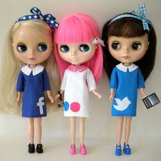 Social Media Blythe Dolls