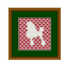 White Poodle Counted Cross Stitch Pattern. PDF Instant Download. Pattern. Decor Pattern. Animals Pattern.