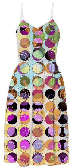 MELANGE OF CIRCLES IV - Dress from Print All Over Me. #pattern #women #dress #summerdress #fashion #geometric #art #paom