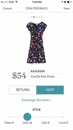 I don't actually love the pattern on this, but I like the cut and the idea of florals on a knit dress with this cut