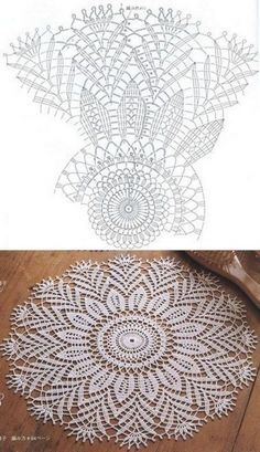 Free Crochet Doily Patterns, Crochet Doily Diagram, Crochet Circles, Crochet Mandala, Filet Crochet, Crochet Motif, Diy Crochet, Crochet Coaster, Crochet Table Topper
