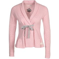 0ac3fb43124 Odd Molly Canna Cardigan ($170) ❤ liked on Polyvore featuring tops,  cardigans, cardigan top, tie cardigan, odd molly, wool tops and pink top