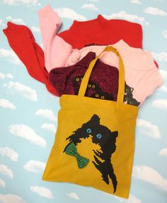 Kitty Tote Bag. $20.00, via Etsy.