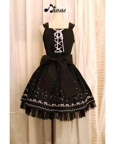 HMHM Black Embroidery JSK Lolita Dresses  #lolitadress  #JSK