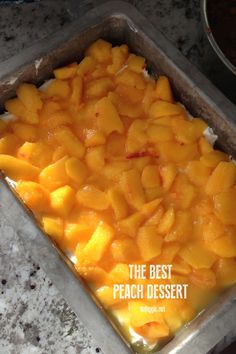 the best peach dessert