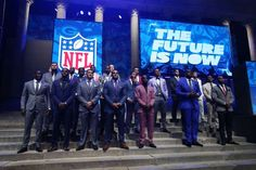 The 2017 NFL Draft: The 2017 NFL draft prospects pose before the start of the first round the 2017 NFL Draft at Philadelphia Museum of Art.