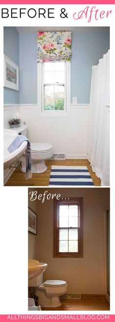 Budget Friendly Bathroom | Before and After | DIY Bathroom | All Things Big and Small One Room Challenge