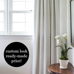 Today's post is one I've wanted to share since the beginning of my blog…but never had the opportunity until now. I've used this method to hang curtains since I saw it in a magazine years (and years) a