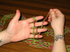 finger knitting #activities #knitting