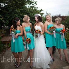 Love the bridesmaid dresses and very close to my colors.