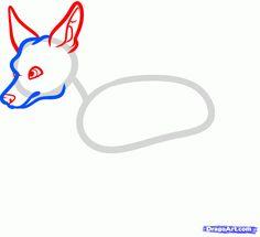 how to draw a miniature pinscher, min pin step 3
