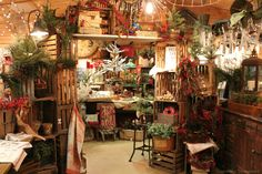 Christmas display @ our shop using old crates  Timeworn Treasures | Danville PA