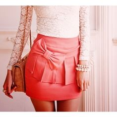 Pink Bow Skirt...love it!