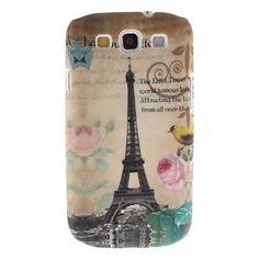 Bird Flower Eiffel Tower Hard Back Cover Case for Samsung Galaxy S3 i9300