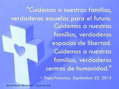 """""""Las familias no son un problema, son, ante todo, una oportunidad."""" Leer más en: http://www.zenit.org/es/articles/el-papa-a-las-familias-cubanas-en-el-calor-del-hogar-la-fe-empapa-cada-rincon"""