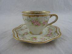 Haviland Limoges Pink Gold Cup Saucer