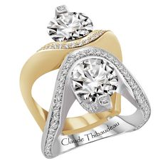 Shop Claude Thibaudeau Engagement rings at GMG JEWELLERS. We offer financing options and all our Claude Thibaudeau products come with manufacturer warranty. Jewelry Rings, Fine Jewelry, Jewellery, Two Tone Engagement Rings, Wow Products, Jewelry Stores, Jewelry Collection, Bling, Fancy