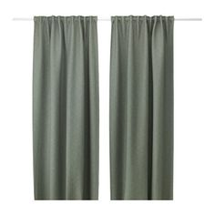 IKEA VILBORG curtains, 1 pair The curtains can be used on a curtain rod or a curtain track.