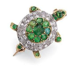 "Signature Victorian Collection....known for its international taste and appeal!    ""Turtle""...only $800 or P35,200!! Victorian Style 1.57ct Diamond & Emerald Turtle Brooch! Imported, world-class quality, not pre-owned, not pawned, not stolen. We deliver worldwide <3"