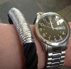 @carolynkingston sporting a new #metallic #silver #theropes #theropesmaine #bracelet
