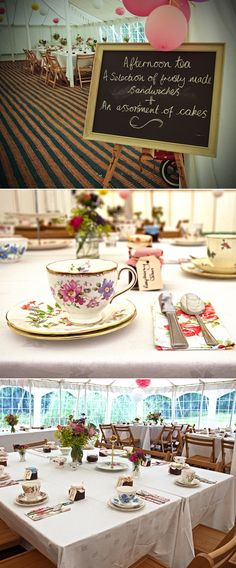 I love the mismatched china! I wonder if you can rent it that way or if they just borrowed in all from their friends?