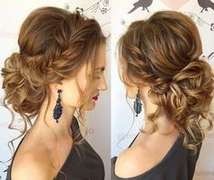 summer wedding hairstyles for medium length hair - Wedding dresses -. - Over 50 summer wedding hairstyles for medium length hair - hair Medium Long Hair, Medium Hair Styles, Curly Hair Styles, Curly Updos For Medium Hair, Updo For Long Hair, Long Hair Wedding Updos, Wedding Updo With Braid, Updos For Curly Hair, Up Dos For Medium Hair