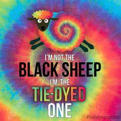 I'm not weird, I'm a tie dye sheep. Get your tie dye on at http://tiedyeyoursummer.com #tiedyeyoursummer