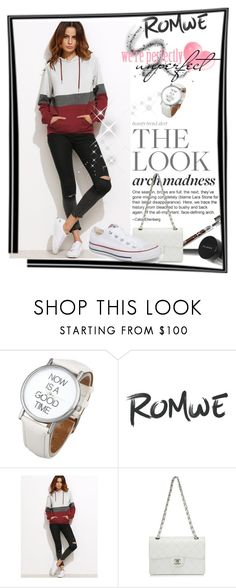 """Romwe contest"" by naruto-minato ❤ liked on Polyvore featuring Chanel and Converse"