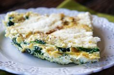 Three Cheese Spinach Fritatta