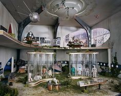 Space Center micro apocalyptic scenes created by photographer Lori Nix  http://www.dazeddigital.com/artsandculture/article/21008/1/welcome-to-the-dolls-house-for-fatalists