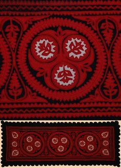 Hungarian Embroidery Patterns Antique Hungarian Textile, Embroidery on Felt Mid Century Chain Stitch Embroidery, Felt Embroidery, Learn Embroidery, Hand Embroidery Designs, Embroidery Stitches, Embroidery Patterns, Floral Embroidery, Stitch Head, Hungarian Embroidery