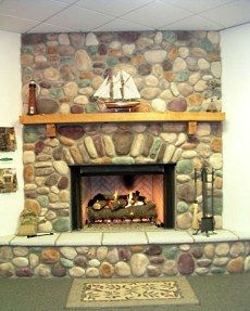 round river rock fireplace Google Search House Likes