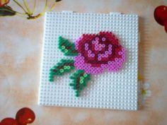 Rose perler beads by Claudia Z. - Perler® | Gallery