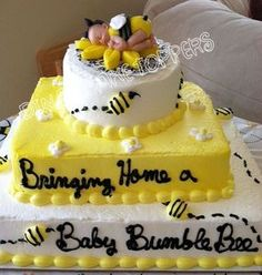 Bumble BEE BABY CAKE TOPPER for a Baby Shower --- LOVE IT!