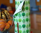 Snapping Paper Towel Set - Reusable, Eco-Friendly - CHOOSE YOUR PRINT - Cotton and Terry Cloth. $52.00, via Etsy.