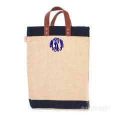 Monogrammed Market Jute Bag | Marley Lilly
