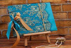 Elegant guest book... My Greek Wedding, Guest Books, Wedding Guest Book, Elegant, Lace, Classy, Racing, Chic