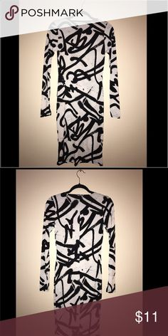 Black and white club dress Black and white club dress, NEVER WORN without tags. Dresses Long Sleeve