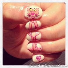 pink panter nail design » Nail Designs & Nail Art