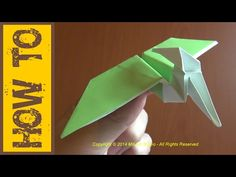 How to Make a Paper Dinosaur / Origami Pterodactyl Pteranodon - YouTube
