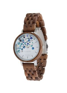 type of wood: walnutwood Miyota quartz movement GL 30 mineral crystal dial foldover clasp strap is arbitrary adjustable light and comfortable to wear allergy friendly registered design with swarovski crystals Blue Crystals, Swarovski Crystals, Capri Island, Wooden Watch, Walnut Wood, Amalfi, Quartz, Watches, Accessories