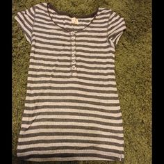 Free People Top Grey striped top size M, but I think it runs smaller Free People Tops Blouses