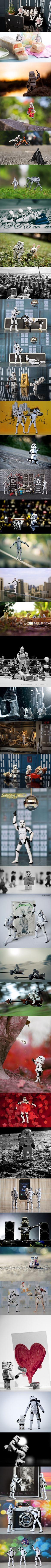 Stormtroopers haciendo cosas impresionantes