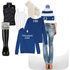 Female Colts Fan Tailgate Outfit Indianapolis Fashion NFL