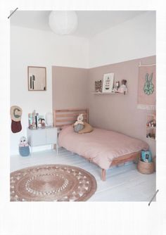 Girls Bedroom, Bedroom Decor, Wall Decor Kids Room, Ikea Girls Room, Kids Room Paint, Kids Decor, Boy Room, Kids Room Design, Big Girl Rooms