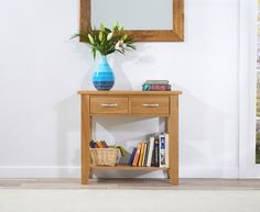 Buy the Cheadle 85cm Oak Console Table at Oak Furniture Superstore