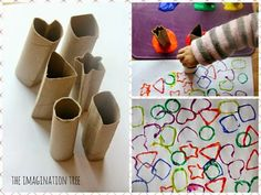 Another gadget print option Kids Crafts, Toddler Crafts, Preschool Crafts, Diy And Crafts, Arts And Crafts, Toilet Paper Roll Crafts, Paper Crafts, Toddler Activities, Preschool Activities
