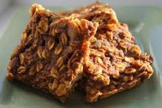No-bake protein oat bars  Ingredients:  2 cups dry oatmeal  4 scoops whey protein powder (vanilla or chocolate works best)  ½ cup natural peanut butter  1/3 cup of water or milk    Directions:  Mix all ingredients together in a bowl, and then press into a 9-by-9 inch pan lined with wax paper. Freeze for 40 minutes and cut into bars.