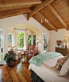 Dream Rooms, Dream Bedroom, Home Bedroom, Casas Country, Aesthetic Bedroom, Beautiful Bedrooms, Cozy House, My Dream Home, Home Interior Design