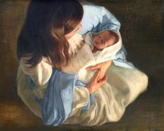 BYU-Idaho graduate paints Mary and the baby Jesus, a story of deliverance | Deseret News